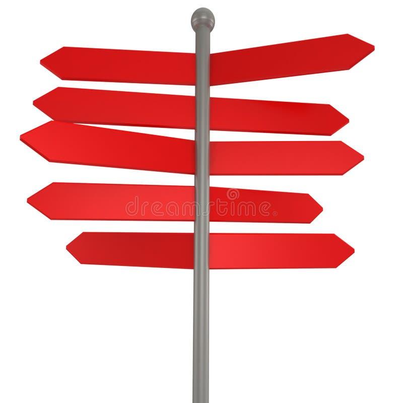3d blank arrow sign royalty free illustration