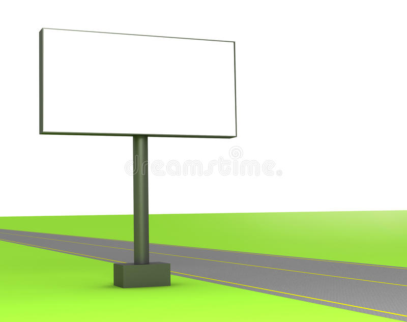 3d Blank Billboard On The Street Royalty Free Stock Image