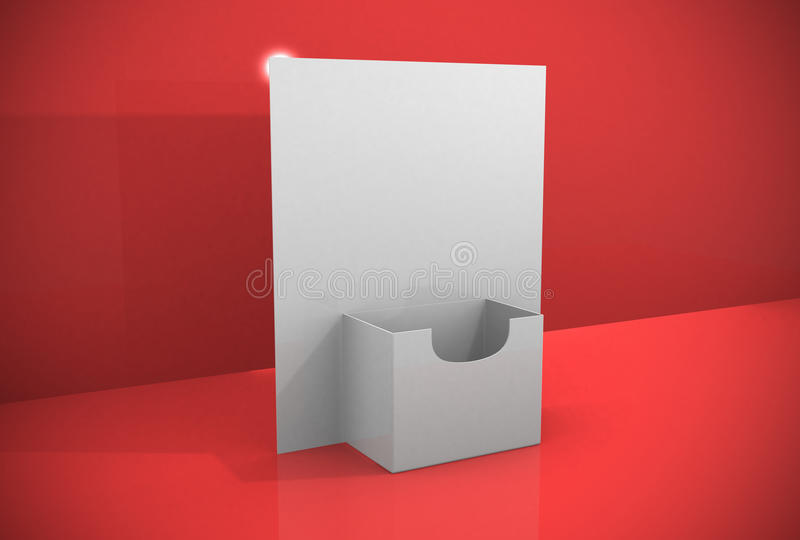 download 3d blank brochure holder template stock illustration illustration of object communication 27733769