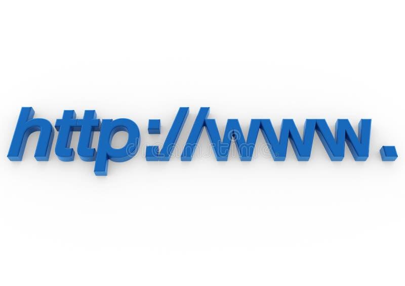 3d blauw van adresHTTP www vector illustratie