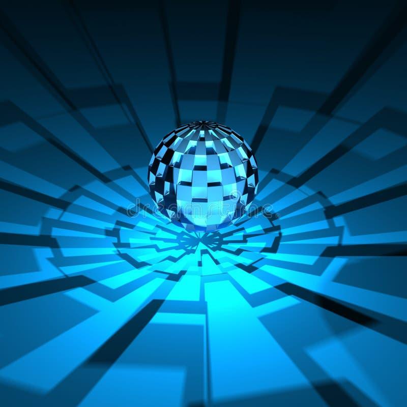 3D blauwe globaal royalty-vrije illustratie