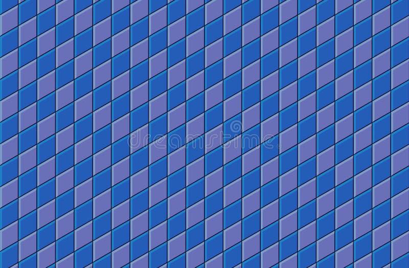 3d blauwe purpere betegelde bestrating van de muurvloer royalty-vrije illustratie