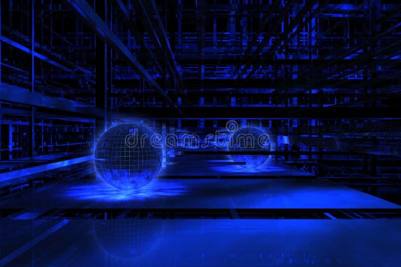 3D blauwe ruimte vector illustratie