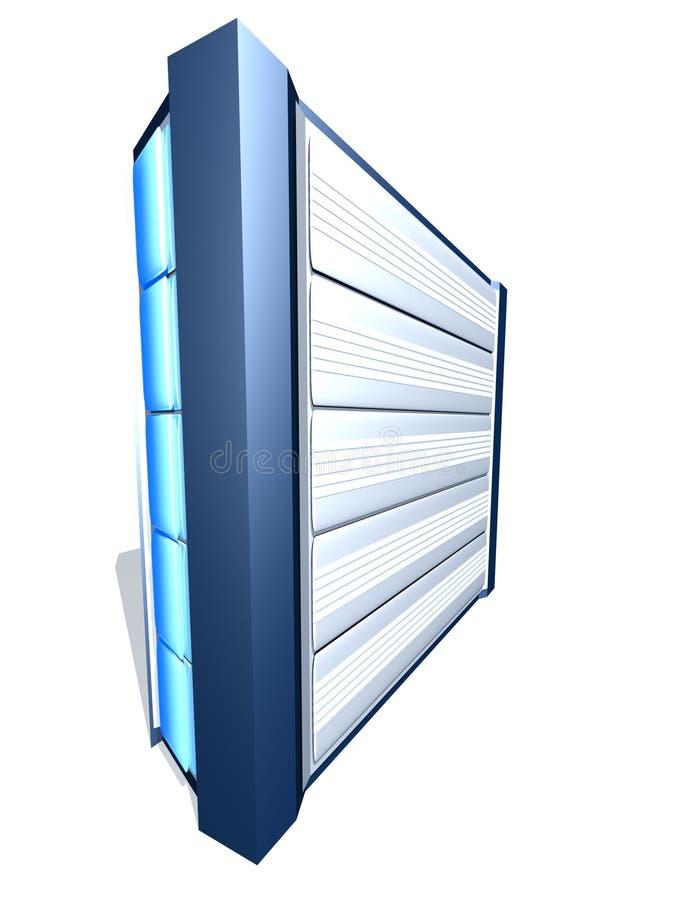 3d blauwe server stock illustratie