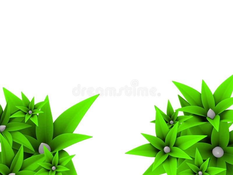 3d bloemen stock illustratie