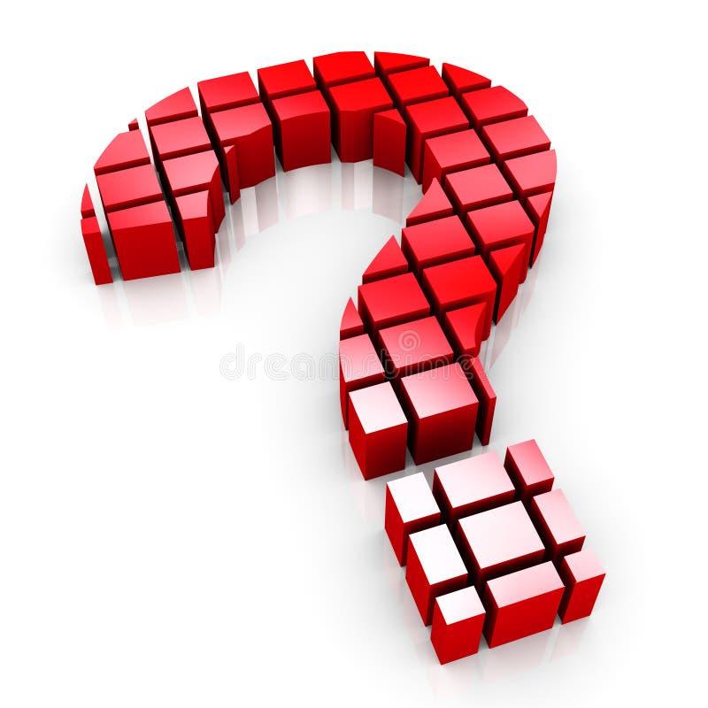 3d blokuje znak zapytania symbol ilustracji