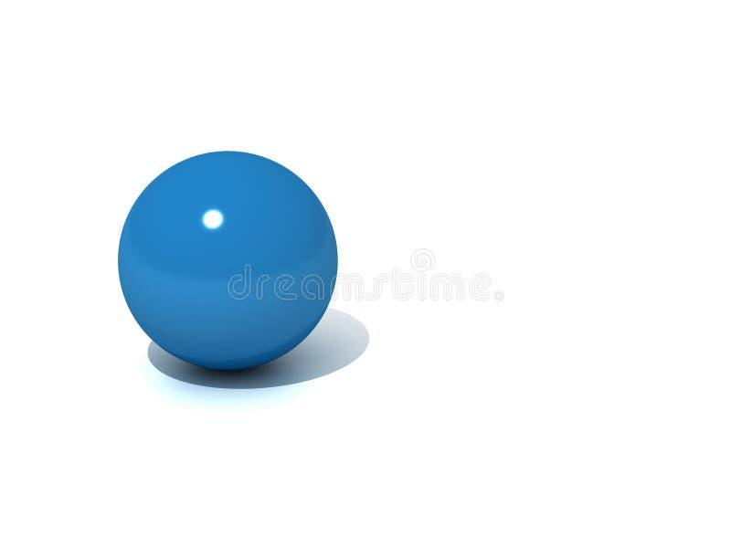 3d blue ball stock photo