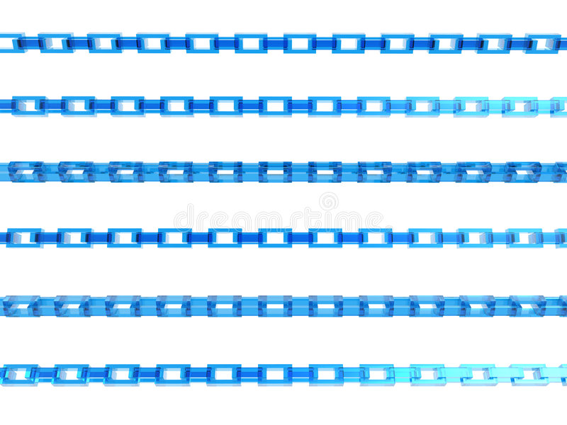 3D blue chains royalty free stock photos