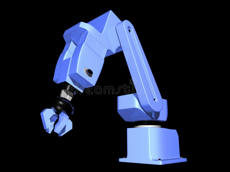 Download 3D Blue Robotic Arm stock illustration. Illustration of automated - 3308598
