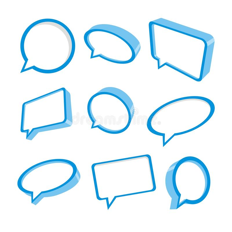 Download 3d blue speech bubbles stock vector. Image of chat, background - 22711489