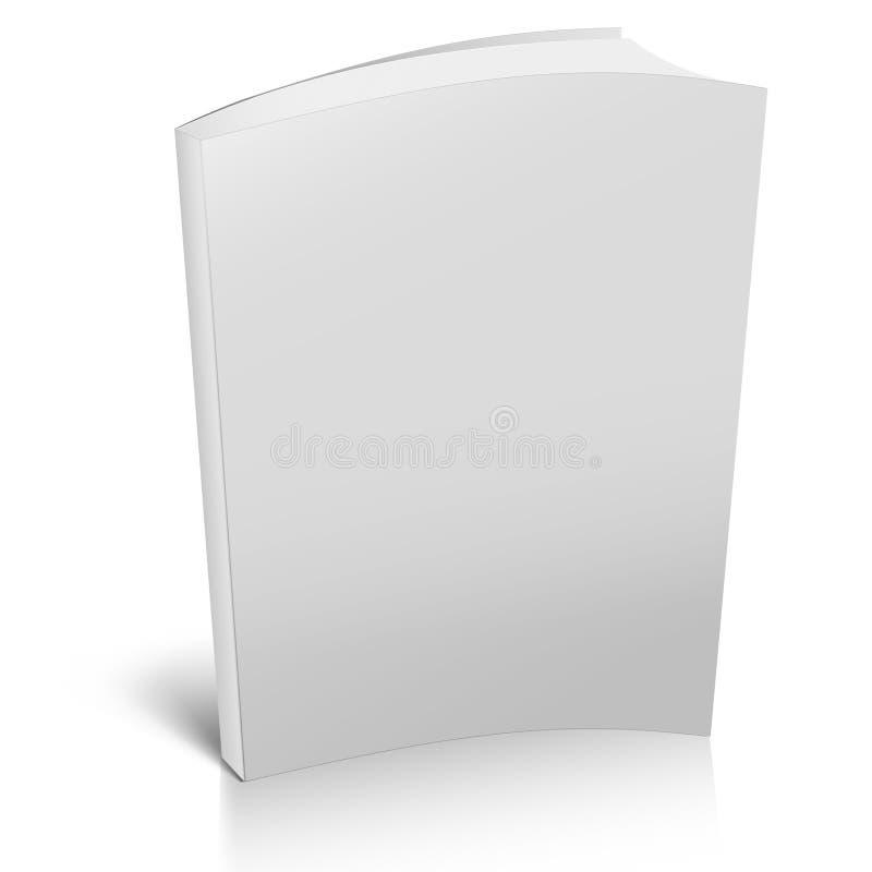 3d boek met lege dekking