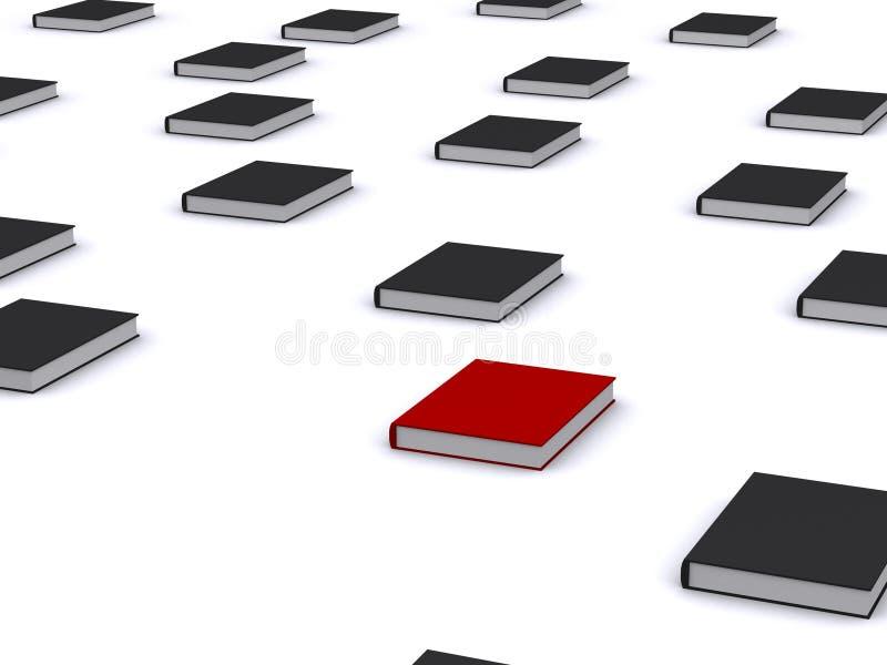 3d boeken stock illustratie