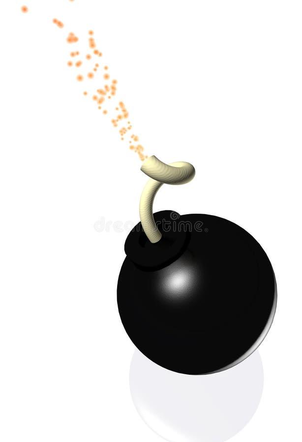 3d bomba royalty ilustracja