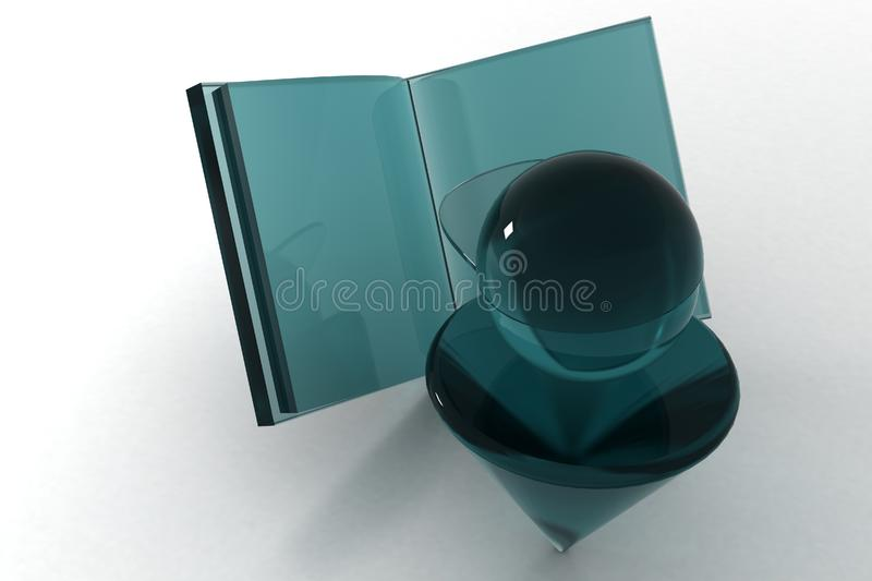 3d book and boy royalty free stock photo