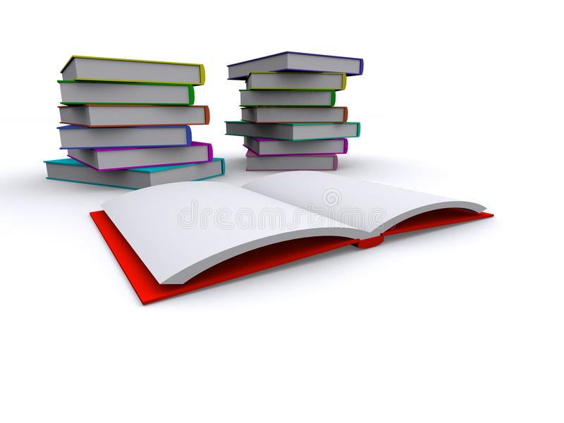 3d Books royalty free stock photos
