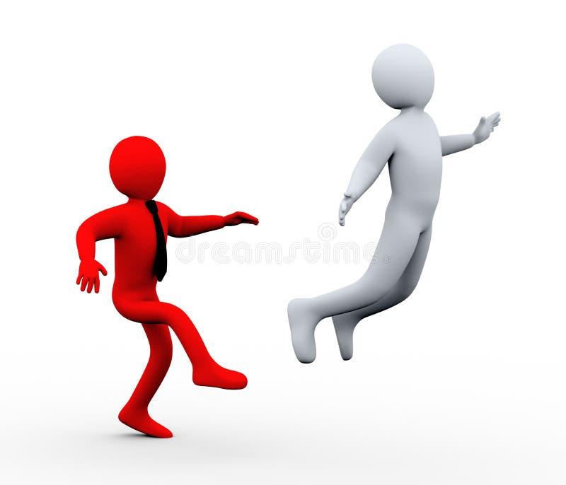 Download 3d boss kick out employee stock illustration. Illustration of motivation - 27315471