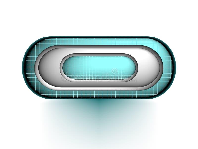 3d botón, vector ilustración del vector