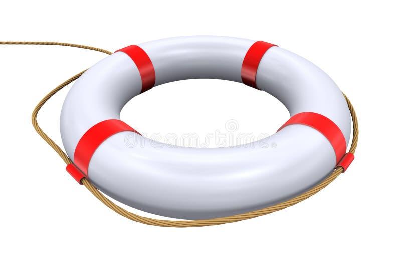 3d boucle lifebuoy - sauveteur illustration libre de droits