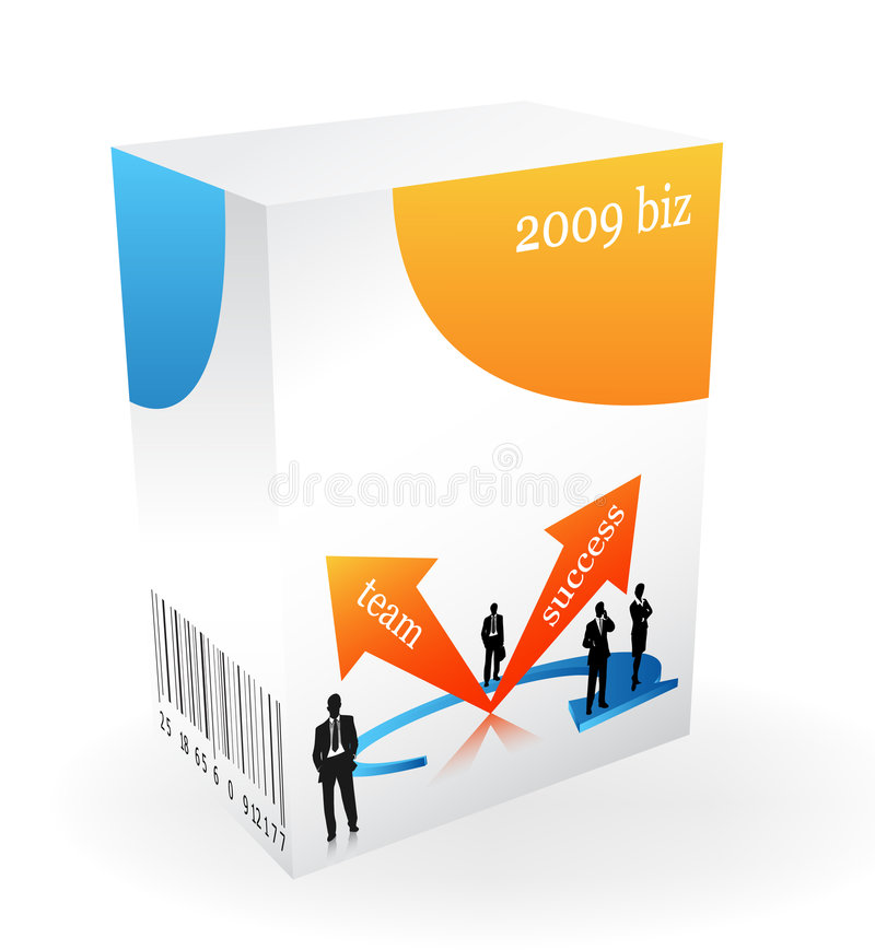 Download 3D BOX stock vector. Image of technology, team, business - 7534895