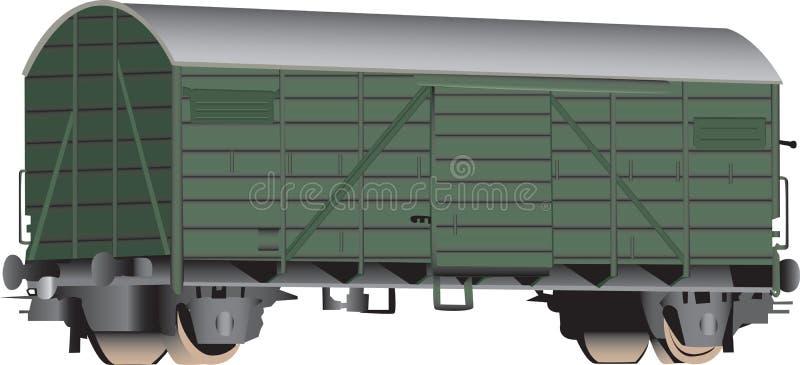 3d boxcar linia kolejowa royalty ilustracja