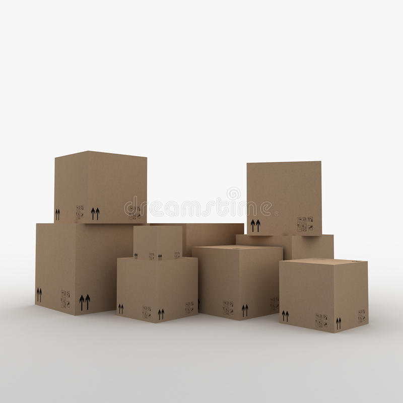 3D Boxes royalty free stock image