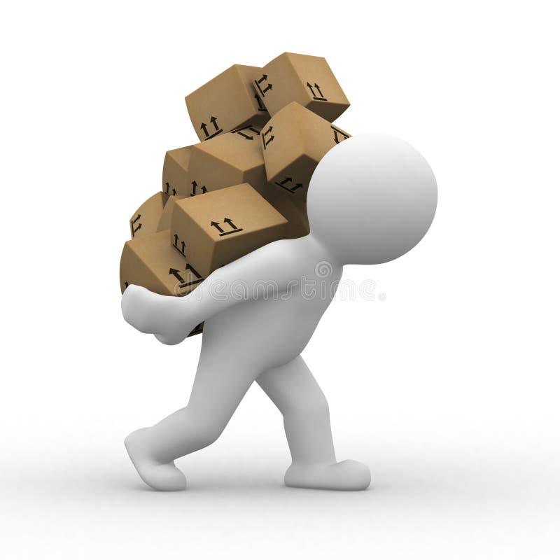 3d Boxes Stock Photo
