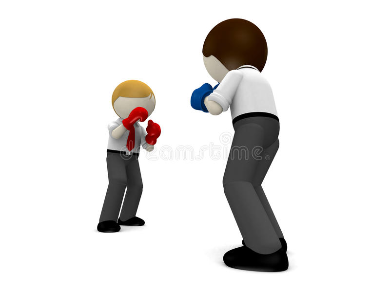 Download 3d Boxing Concept For Business Rivalry. Stock Illustration - Image: 26420445