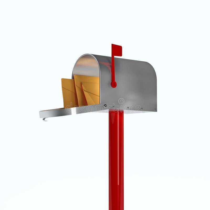 3d brievenbus stock illustratie