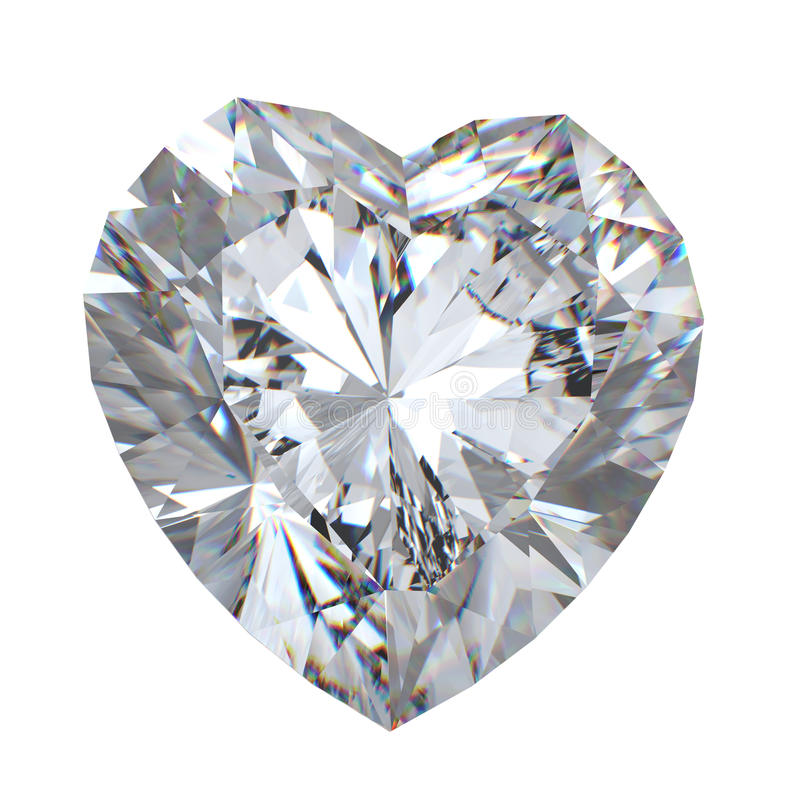 3d briljante besnoeiingsdiamant stock foto