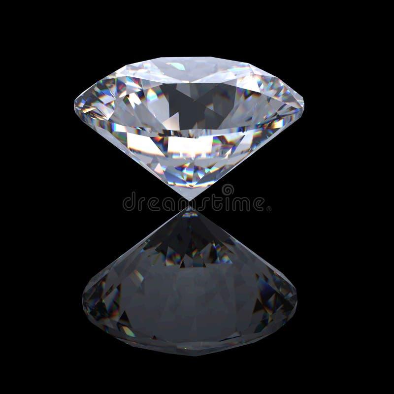 3d briljante perspectief van de besnoeiingsdiamant stock fotografie