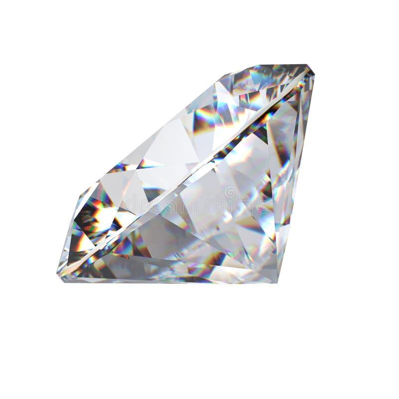 3d brilliant cut diamond perspective royalty free stock photo