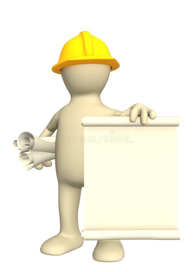 3d budowniczy dokumentuje rolki ilustracji