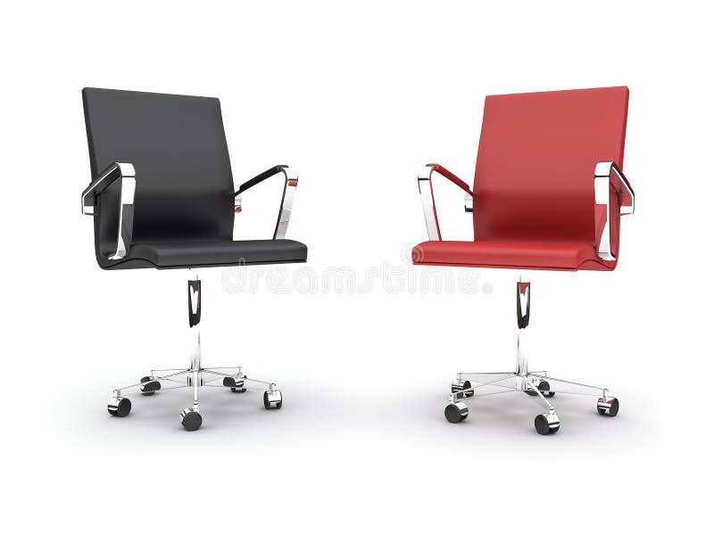 3d bureaustoelen stock illustratie