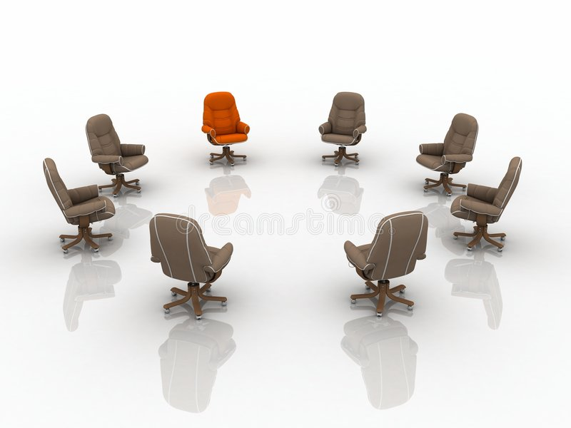 Download 3d business armchairs stock illustration. Image of chair - 2607926