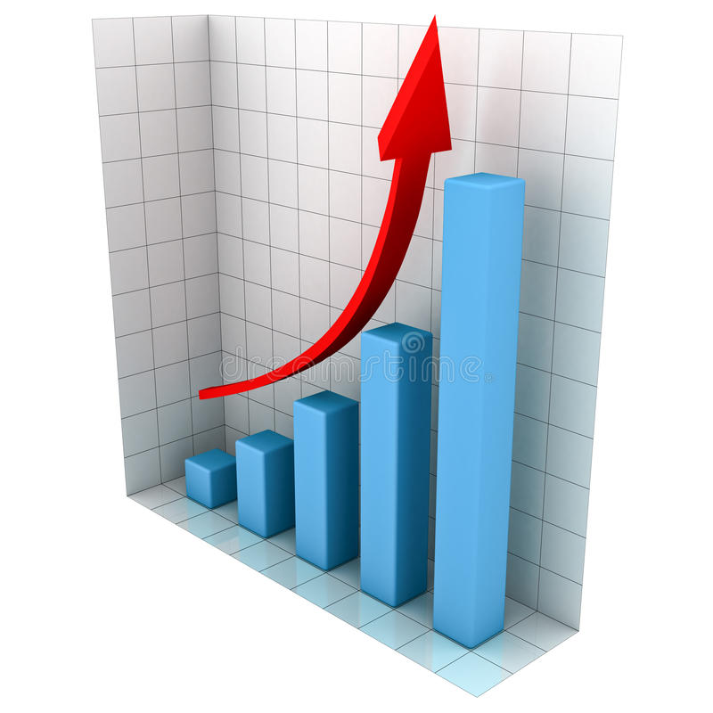 3d Business Chart. Isolated on white background stock illustration