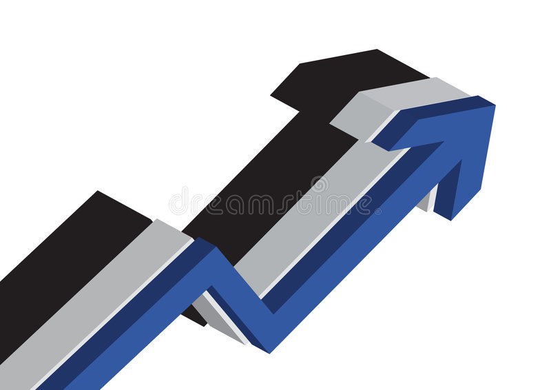 3D Business chart stock illustration