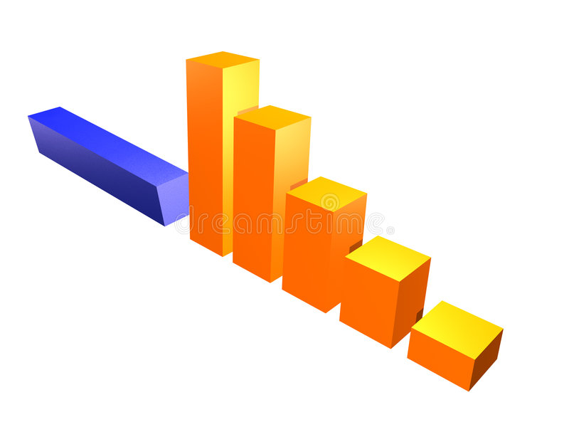 3D business chart royalty free illustration