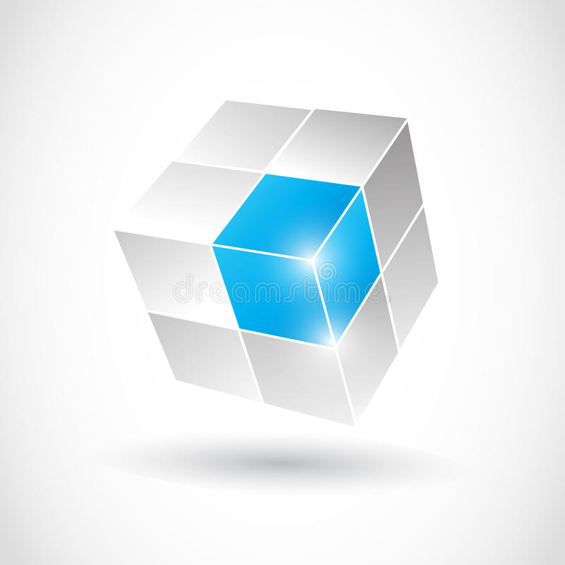 3D Business Cube. Abstract background royalty free illustration