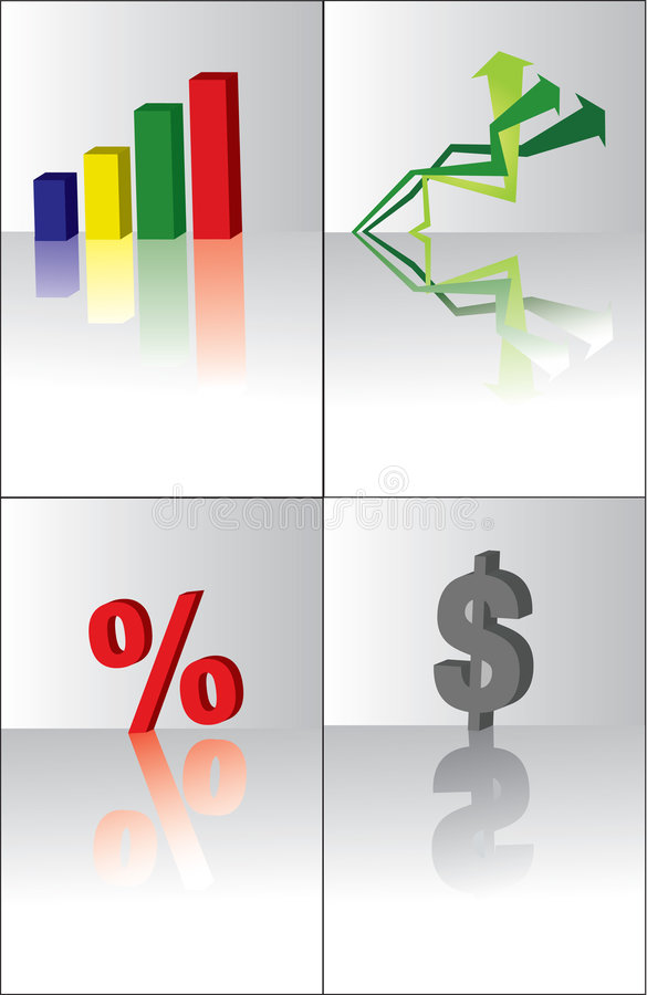 3d business elements royalty free illustration