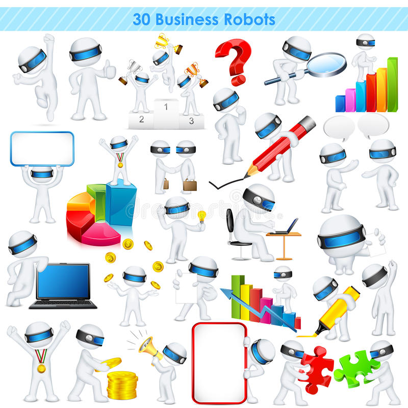 Free 3d Business Man In Fully Scalable Vector Stock Photos - 32235913