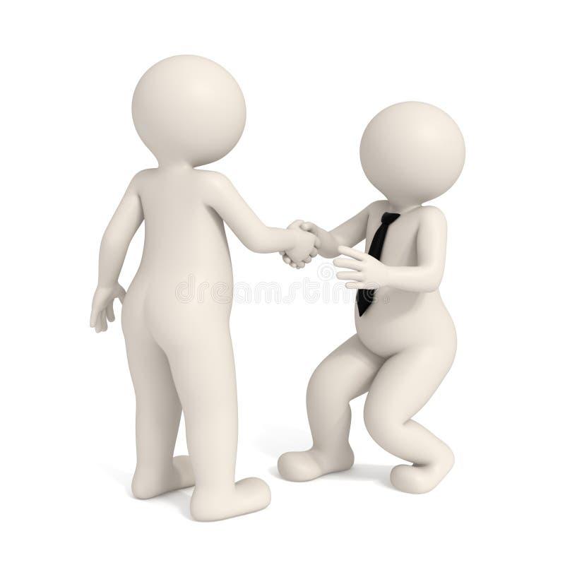 Download 3d Business Men - Intimidating Handshake Stock Illustration - Illustration: 17627339