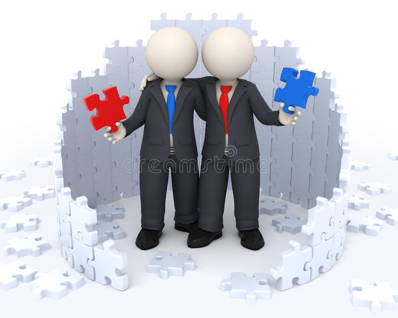 Download 3d Business Partners - Puzzle Solutions Stock Illustration - Image: 21161671