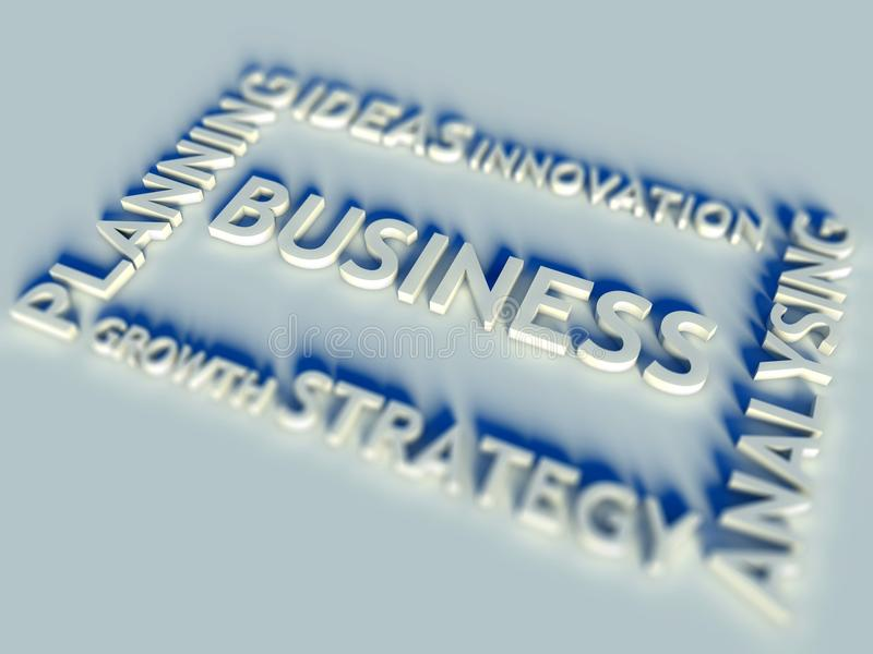 3d Business Text Table And Keywords Royalty Free Stock Photo