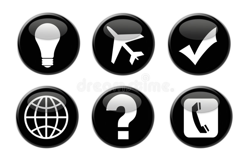 3D Business And Travel Icons Royalty Free Stock Image