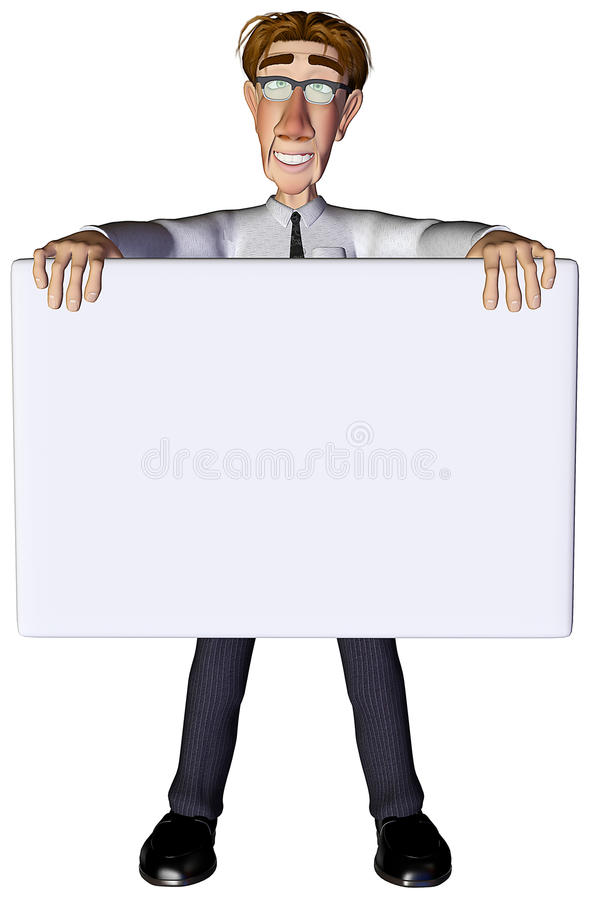 Download 3d Businessman Advert White 3 Stock Images - Image: 15164604