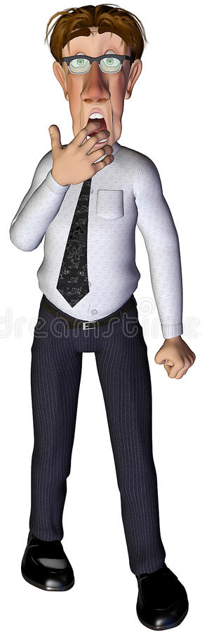 Download 3d Businessman Unhappy Surprise Stock Illustration - Image: 15155490