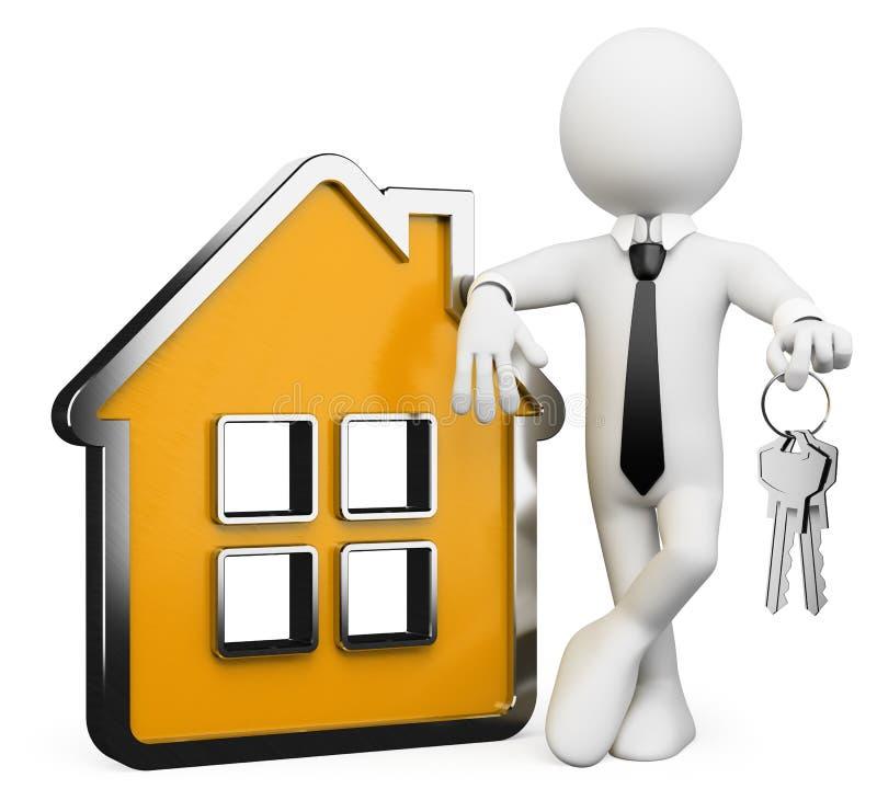 Download 3D Businessman White People. Real Estate Stock Illustration - Illustration: 27118019