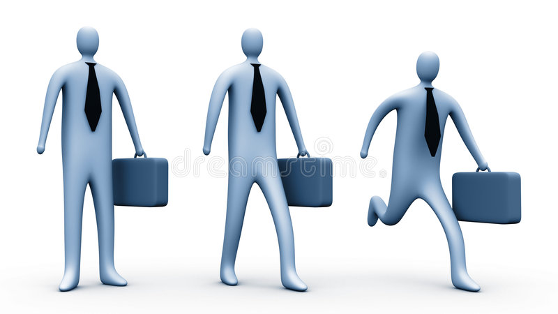 3d businessmen stock illustration