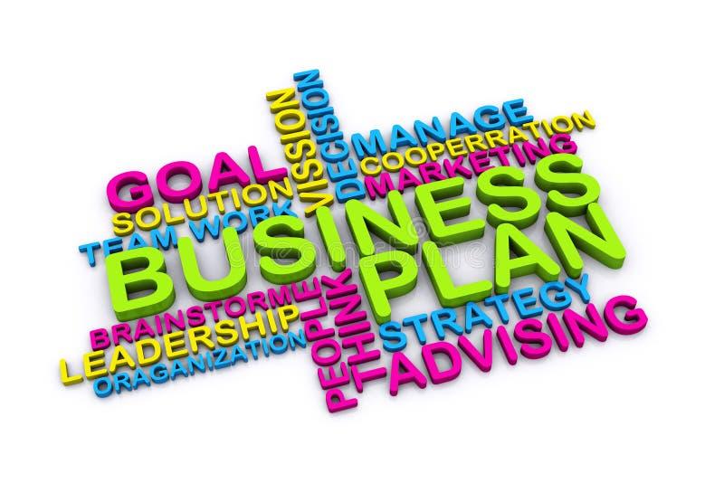 3d businessplan van  stock illustratie