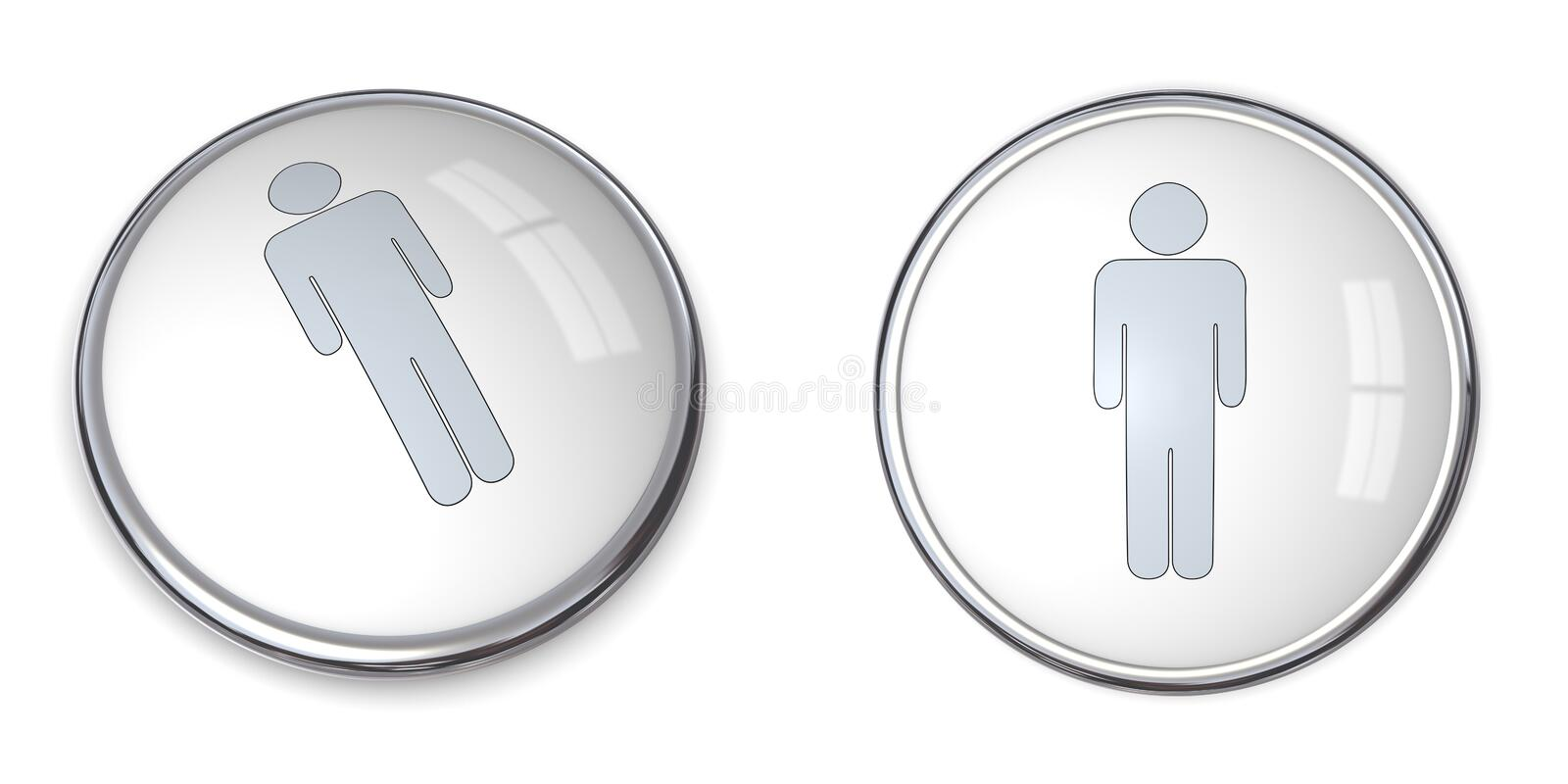 Download 3D Button Male Pictogram stock illustration. Image of pictogram - 9041322